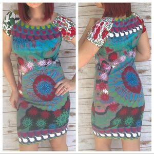 Desigual Dress Folk Art Sz S ::XF15
